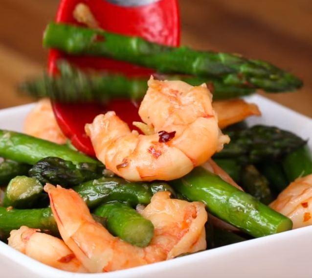 asparagus shrimp1